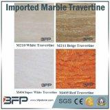 白いですか極度の白くか赤いですまたはベージュカラーの床タイルまたはカウンタートップのためのまた大理石のTravertineの壁のタイル
