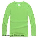 Qualitätmens-langes Hülsen-Baumwollhemd mit kundenspezifischem Firmenzeichen