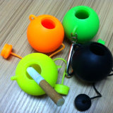New Design Round Teapot Shape Portable Silicone Ashtray