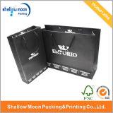 Штемпелюющ серебряную хозяйственную сумку черноты логоса (QYZ064)