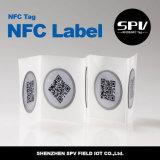 Etiqueta engomada impresa código Ntag213 Hf13.56MHz ISO14443A RFID de Qr NFC