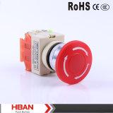Hby090 interruptor de parada elétrico plástico de Emegency do cogumelo da série 22mm