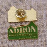 Pin отворотом металла золота 2016 DIY с муфтой бабочки