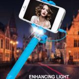 Linterna atada con alambre Monopod con la luz de destello del LED para el palillo de Selfie (RKMINI4)