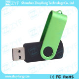 Regalo Campaña tema verde giratorio 16GB USB Drive (ZYF1823)