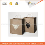 Fancy Luxury Glossy Black Fashion Brand Sac à provisions en papier UV