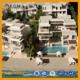 El modelo hermoso de /House del modelo del chalet/modelo de las propiedades inmobiliarias/toda la clase de fabricación de las muestras/de modelo miniatura/de modelo del edificio