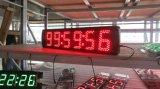 """5 """" 6ディジット半屋外LEDデジタル時計は、規則的なクロックおよびCountdown/up機能をサポートする"""
