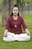 Одеяние вкосую ворота весны хиа Tai Taoism & льна лета китайское уютное Relaxed