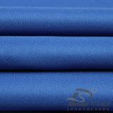 Agua y de la ropa de deportes tela tejida chaqueta al aire libre Viento-Resistente 100% de la pongis del poliester del telar jacquar de la tela cruzada abajo (E149)