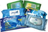 Los trapos mojados de custodia húmedos del bebé grande del paquete pila de discos en envases