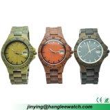 Montre-bracelet bon marché faite sur commande d'OEM et bois rouge de santal de bois d'ébène