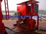 Grue de perche d'articulation avec la station hydraulique séparée pour le bateau de traction subite