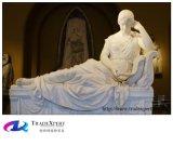 Statue de marbre blanche, sculpture en jardin