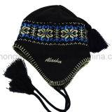 Sombrero/casquillo hechos punto de acrílico calientes de la gorrita tejida del invierno caliente de la venta