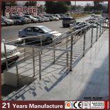 Trilhos ao ar livre da escada do metal do corrimão da escada da tubulação de aço (DMS-B2231)