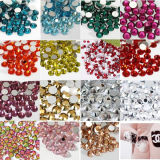Ruby Nail Art Crystal Stone를 가진 Non-Hot Fix Flat Nail Art Designs