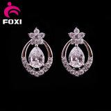 宝石類の母の日のニースの赤いダイヤモンドCZのイヤリング