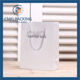 Elegantes White Matt Promotion Paper Bag mit Logo (CMG-MAY-047)