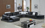 Sofá de la esquina moderno para el sofá de la sala de estar con la luz del LED
