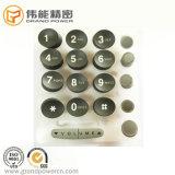 Teclado chave de borracha do número da borracha de silicone do teclado P+R de Silicon&Plastic