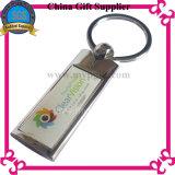 Anello portachiavi in bianco del metallo con l'incisione/stampa di marchio del cliente