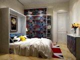 表および棚が付いている折る壁のベッドを傾ける現代垂直