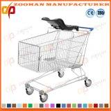 Carro do trole da compra do supermercado do fio com assento do bebê (Zht186)