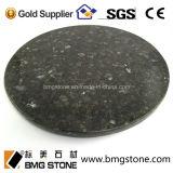 Kundenspezifischer China-absoluter schwarzer Granitrunde Countertops u. Tisch-Oberseiten