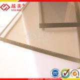 El panel plástico del material para techos de la hoja sólida translúcida del policarbonato con ULTRAVIOLETA