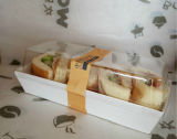 Boîte de papier faite sur commande à sandwich à empaquetage en plastique de sandwich avec le guichet