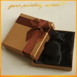 Modo Ribbon Bow Satin Liner Custom Design Gift Box per Bracelet