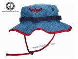 Obscuridade verific do estilo da qualidade 2016 superior - chapéu azul da cubeta da sarja de Nimes