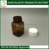 bottiglia ambrata del quadrato della pillola della capsula dell'animale domestico 80ml
