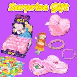 Stuk speelgoed van de Gift van de Container van het suikergoed het Plastic voor Meisjes