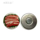 Imanes del refrigerador de la Navidad de la divisa del estaño del botón de la Feliz Año Nuevo del festival del día de fiesta