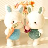La alta calidad de conejito de juguete creativo al por mayor de la felpa blanca