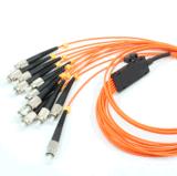 Una fibra multimoda Patchcord ottico di 12 memorie di MPO-FC