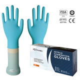 La marque de distributeur enferme dans une boîte les gants libres de nitriles de poudre médicale procurable de matériaux