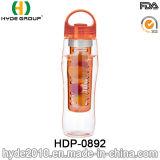 Оптовая бутылка воды Infuser плодоовощ Tritan фабрики, пластичная бутылка питья вливания лимона (HDP-0892)