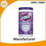 el desinfectante del olor del limón 75PCS limpia trapos de la limpieza de la mano