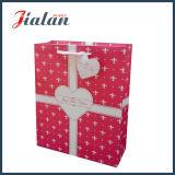 "Papel de marfil laminado mate ""deseo para usted"" bolsa de papel del regalo"