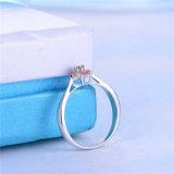In het groot Bloemen Echte Zilveren Ring 925 met Goedkope Prijs (r-0119)