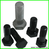 Hex pesante Structural Bolts con Hex Head, UNC Thread, HDG, Black Finish, Zinco-placcatura