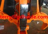 Garra hidráulica da casca alaranjada para a máquina escavadora de Hitachi