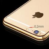 4colors het gouden Geval van de Telefoon van de Cel TPU van de Plaat Zachte Mobiele