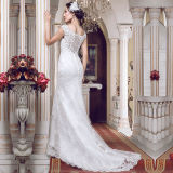 Lace Tulle Real Photos Mermaid Wedding Dresses (TM-MS003)
