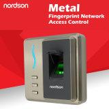 Impressão digital da rede do metal & de acesso de RFID controlador com a saída de Wiegand a conetar com o painel de controle