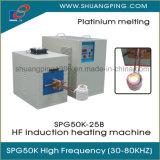 Máquina de fusión Spg50K-25b 25kw 30-100kHz de la inducción de alta frecuencia