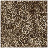 Leopard-Muster-Zoll gedruckter chinesischer Silk quadratischer Schal